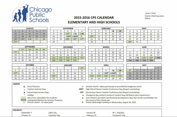 Cps Calendar.When Is Spring Break For Chicago Public Schools Brighton Park