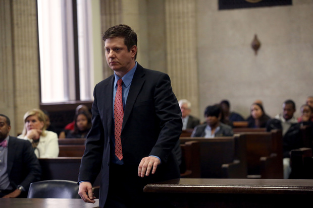 Chicago Police Officer Jason Van Dyke, 37, appeared in court for a routine status hearing Wednesday.