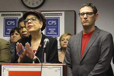 Chicago Teachers Union President Karen Lewis isn't declaring a one-day strike, but