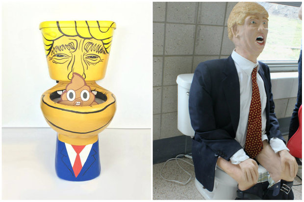 We now have two Donald Trump toilets. Go us (?)