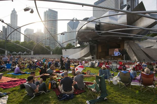 A scene from a Downtown Sound show at Millennium Park.