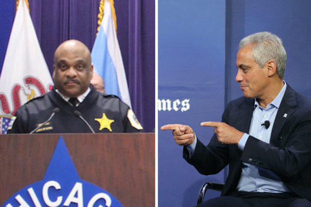 Mayor Rahm Emanuel prepared to introduce 28-year Police Department veteran Eddie Johnson as his choice for interim police superintendent Monday, after rejecting three candidates put forth by the Police Board he appointed.