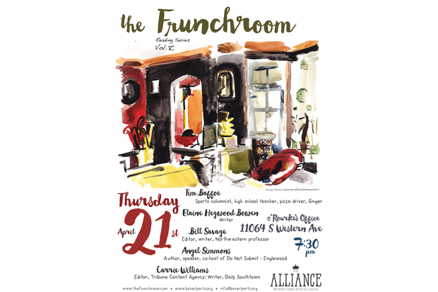 Five new storytellers will take the stage at 7:30 p.m. April 21 for The Frunchroom, a quarterly reading series. The authors will read their South Side-inspired texts at O'Rourke's Office in Morgan Park.