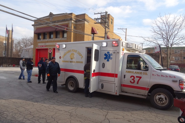 A 20-year-old man was shot in the 800 block of East 91st Street Friday afternoon, police said. The shooting was just 15 feet away from a fire station.