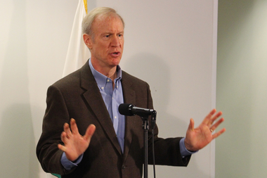 Gov. Bruce Rauner wouldn't actually say