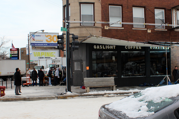 its 60 degrees and snowing in logan square thanks to