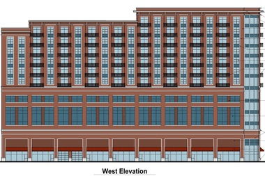 The original proposal for the 13-story tower, before it was revised to include two more floors and 11 more apartments.
