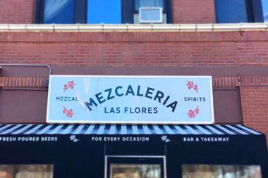 Mezcaleria Las Flores opens Monday in Logan Square in the former Flower Shop Bar.