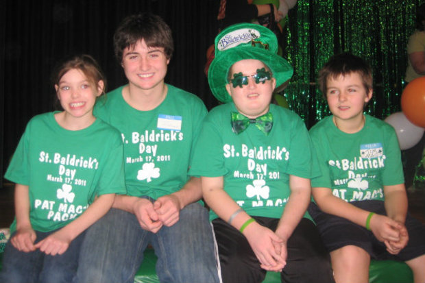 From left, siblings Cara, Conor, Patrick and Timmy McNamara attended a St. Baldrick's Day fundraiser in March 2011. Patrick died several months later after an 11-year battle with a brain tumor.
