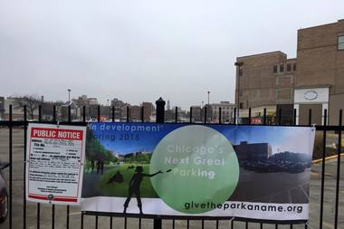 Organizers of a new public green space will be coming to a large shopping mall complex on the southwestern edge of Wicker Park.