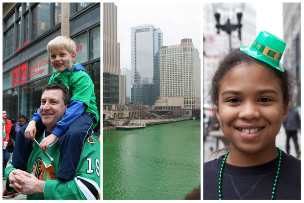 Thousands gathered in Downtown Chicago to see the river dyed green, once again.