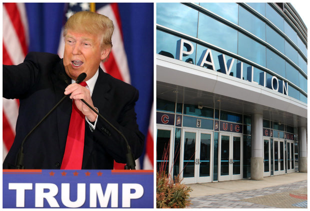 Republican front-runner Donald Trump will host a rally at the UIC Pavilion Friday.