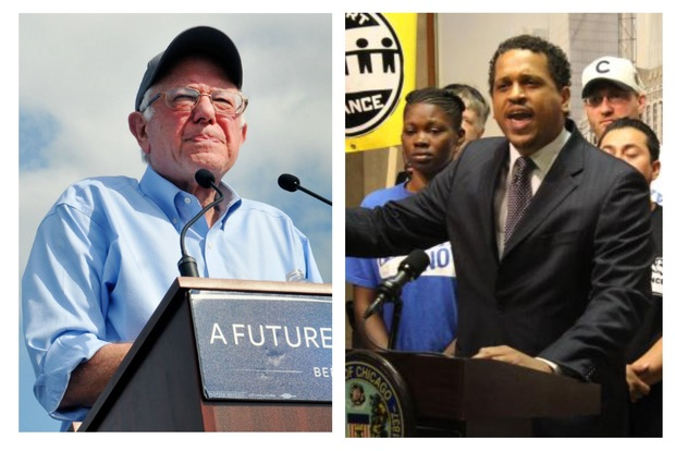 Bernie Sanders spoke out in support of ousted Blaine Principal Troy LaRaviere on Thursday.