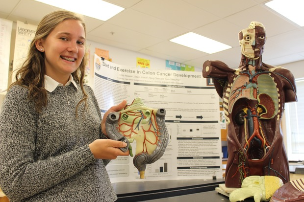Ag School Student Taking Colon Cancer Project To