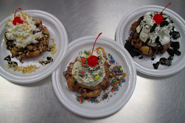 While you're in the neighborhood to see the Sox play the Cubs, try a famous funnel cake sundae at Sugar Shack, 630 W. 26th St.