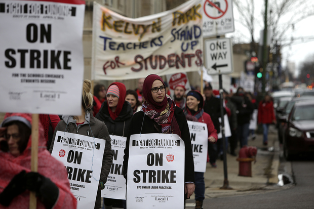 Chicago teachers went on a one-day strike Friday.