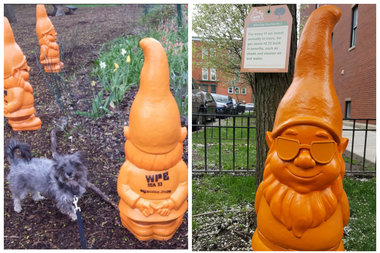 Gnomes have been installed in Wicker Park for Arbor Day awareness.
