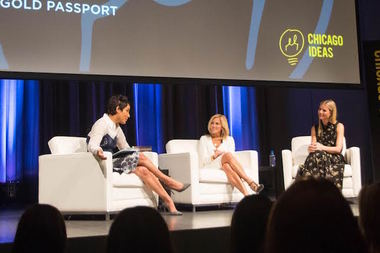 Desiree Rogers (l), Lisa Gersh and Gwyneth Paltrow talk about branding and entrepreneurship.