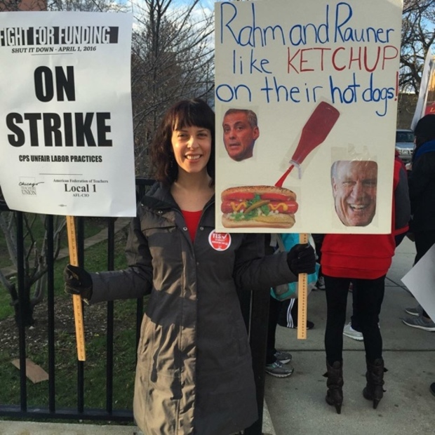 The funniest chicago teachers strike signs photos for Best store to buy posters