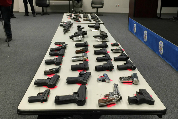 Police gave gun buy-back programs part of the credit for taking 2,858 guns off the street this year.