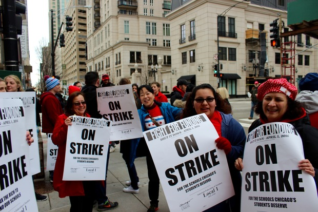 The Chicago Teachers Union staged a one-day walkout on Friday, April 1.
