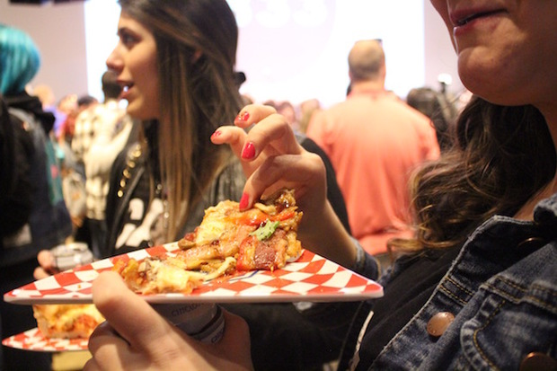About 900 people sampled pizza at the first Chicago Pizza Summit.