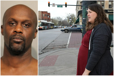 Dwayne Preston (left) hit Meagan Panici with a bat at Clark Street and Foster Avenue, authorities said.