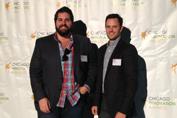 Logan Honeycutt (l.) and Mike Cody at the Chicago Innovation Awards.