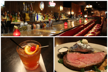 An old fashioned and a prime rib at Millie's Supper Club, 2438 N. Lincoln Ave.