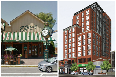 Plans to build a 13-story boutique hotel at O'Brien's Restaurant & Bar, 1528 N. Wells St., were met with fierce opposition from neighbors.