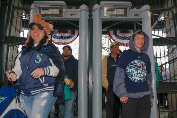 For Opening Day April 11, Wrigley Field will have metal detectors at all gates similar to those pictured at Safeco Field in Seattle, installed in 2014.