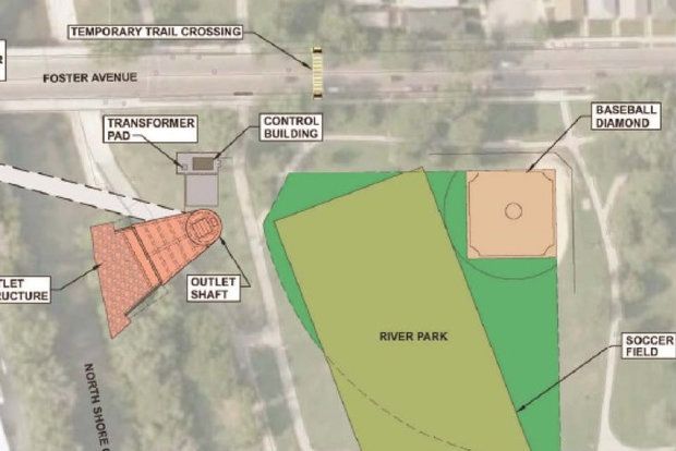 A section of River Park will be closed off for two years while it serves as the staging site for the Albany Park Stormwater Diversion Tunnel.