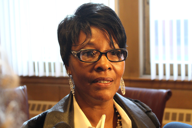 Ald. Emma Mitts says her proposal for a $75,000 liquor license for strip clubs would raise revenue, while aldermen police their possible expansion.