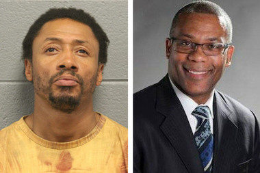 Antonio Cortez Means (l). is charged with stealing a bicycle from Ald. Walter Burnett (r.).