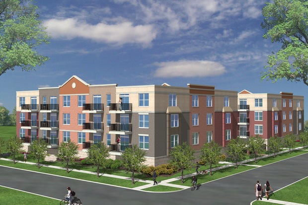Revised plans for the 48-unit apartment call for the two buildings to be three stories rather than four, officials said.