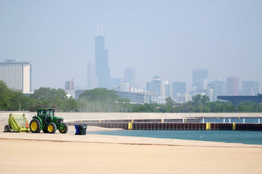 Lake Michigan's rising water level means some beaches could feel a bit smaller this summer.