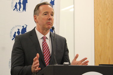 CPS CEO Forrest Claypool has said all schools are being tested for lead in the water out of an