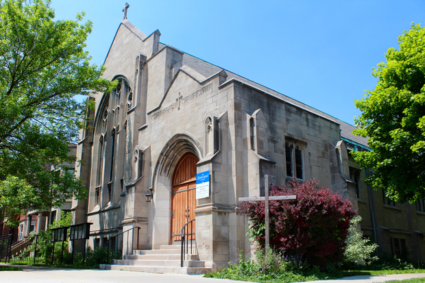 TheEpiscopal Church of the Advent in Logan Square is for sale.