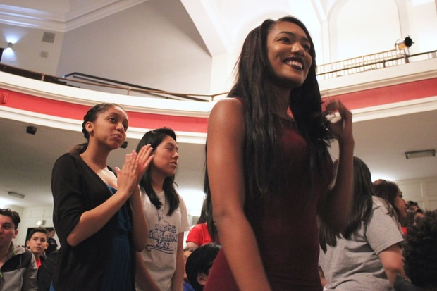 The first graduating class to start Lake View High School's STEM program as freshmen celebrated plans for their futures during a Decision Day assembly May 20.
