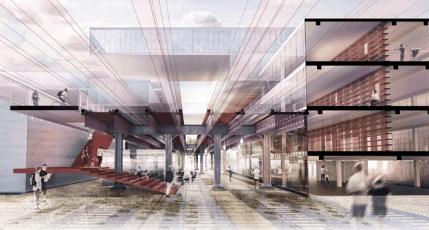 A plan submitted by architecture firm Krueck + Sexton to transform