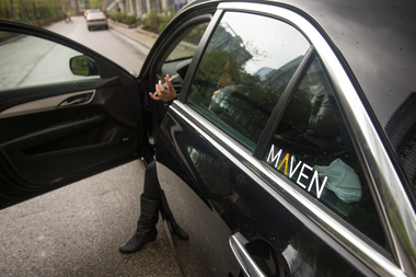 General Motors' Maven service lets people rent a Cadillac, Chevrolet, or Buick starting at $8 an hour.