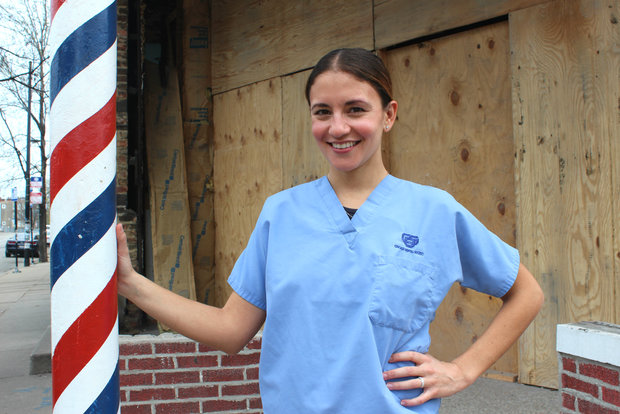 Dentist Elisa Ochoa will open Pilsen Smiles, a new dentist office, in the old Lucky's Barbershop on 18th Street.