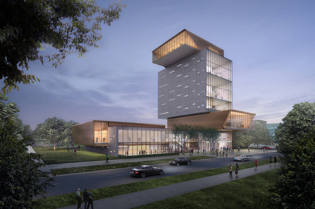 Diller Scofidio + Renfro have designed for U. of C.'s Rubenstein Forum a tower that includes a restaurant and 285-seat auditorium.