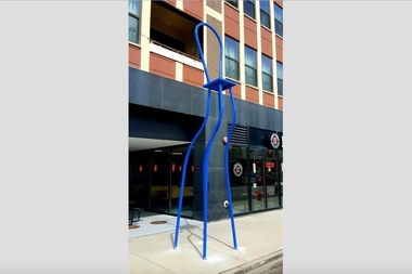 The sculpture is the second of three sculptures set to be installed this spring in the 45th Ward.