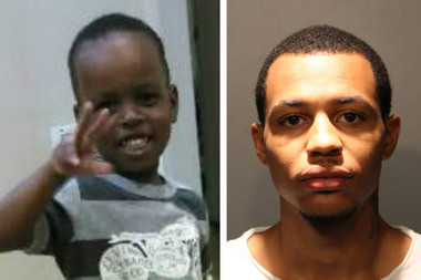 DeSean Wynn (right) is charged in the Father's Day shooting that paralyzed 3-year-old Devon Quinn (left).