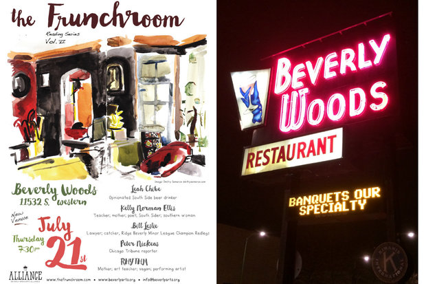 The Frunchroom will move to the Beverly Woods Restaurant in Morgan Park when the live literary series returns at 7:30 p.m. Thursday.
