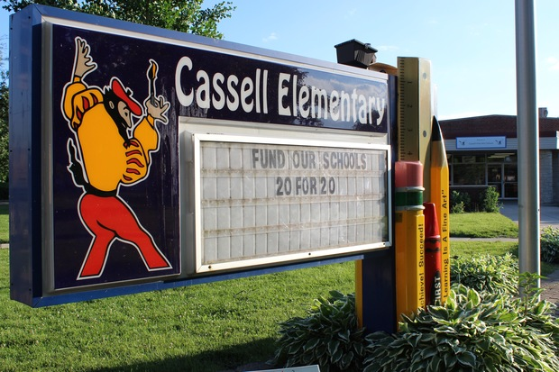 Eileen Scanlan will welcome students Tuesday morning to George F. Cassell Fine Arts School in Mount Greenwood. Scanlan was awarded the top job July 6.