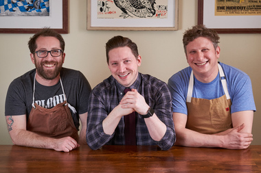 Jason Vincent (from left), Josh Perlman and Ben Lustbader are the partners behind Giant.