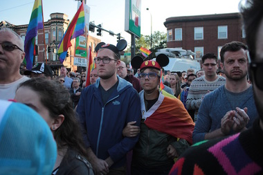 Chicagoans honor those killed in the Pulse shooting during a 2016 vigil.