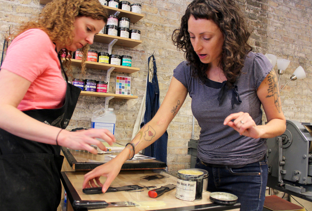 Steel Petal Press opened a storefront letterpress print shop in Logan Square.
